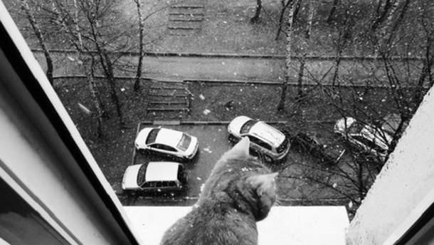 Снегопад в России 22 апреля