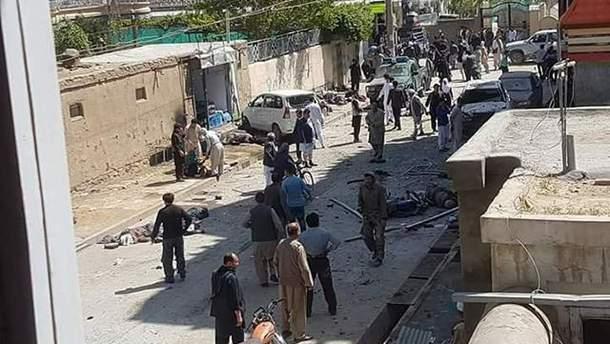 Фото с места теракта в Кабуле 22 апреля