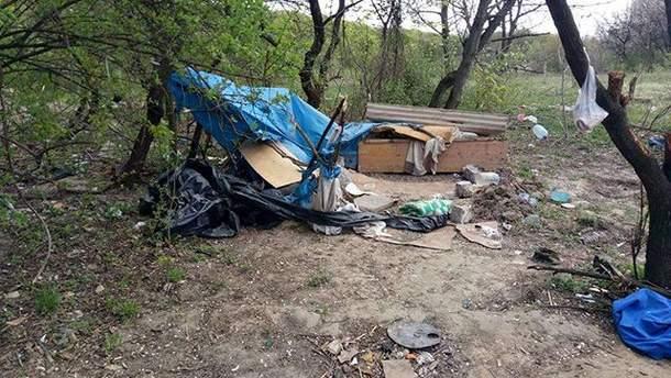 Сожженный табор ромов в Киеве