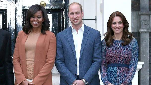 Мішель Обама весело привітала Кейт Міддлтон з народженням сина
