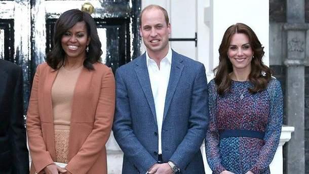 Мишель Обама, принц Уильям, Кейт Миддлтон