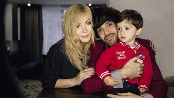 Ірина Білик з сином і чоловіком