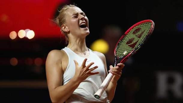 Марта Костюк на турнире Porsche Tennis Grand Prix