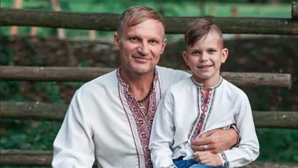 Олег Скрипка с сыном