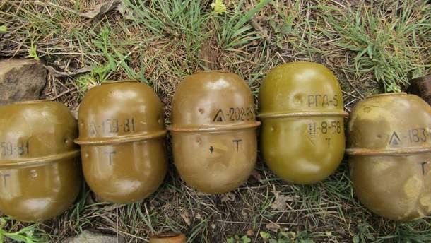 Полиция обнаружила 14 гранат в пакете возле железной дороги