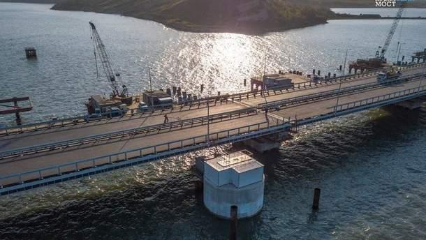 Російські блогери опублікували відео поїздки Кримським мостом