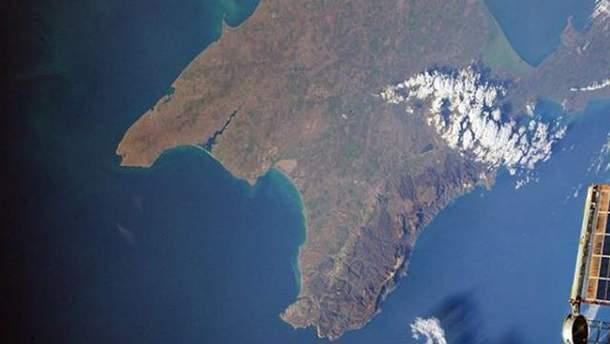 Крымский мост сфотографировали из космоса