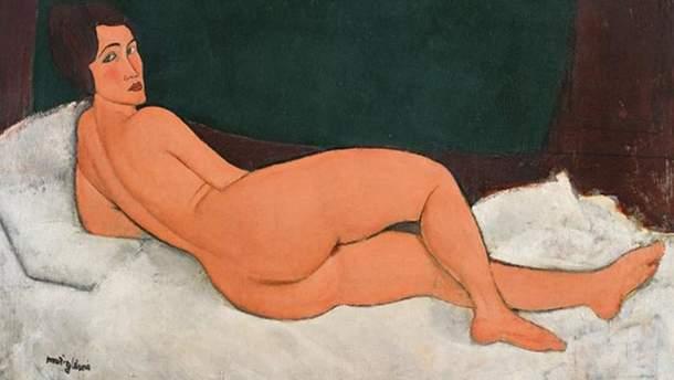 """Картина Амедео Модільяні """"Оголена, що лежить (на лівій стороні)"""""""