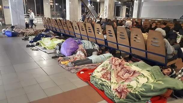 Ромы на вокзале в Киеве