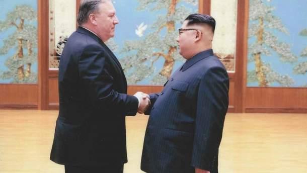 Помпео и Ким Чен Ын