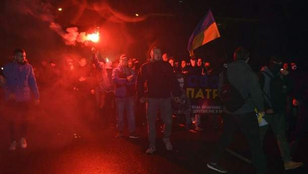 Марш с участием националистических движений в Одессе (иллюстрация)