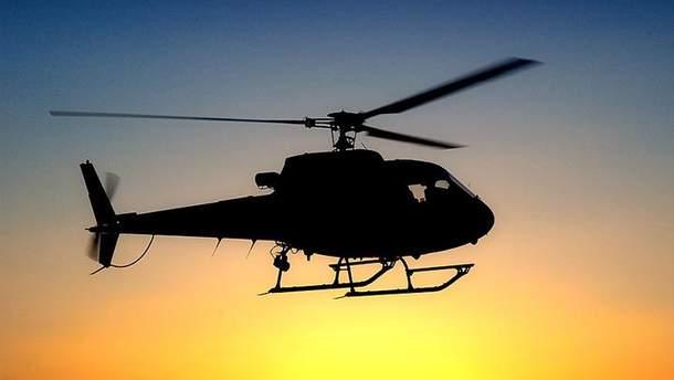 Разбился вертолет (фото иллюстративное)