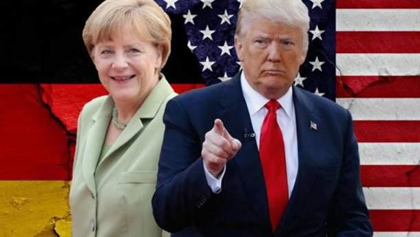 Встреча Меркель и Трампа