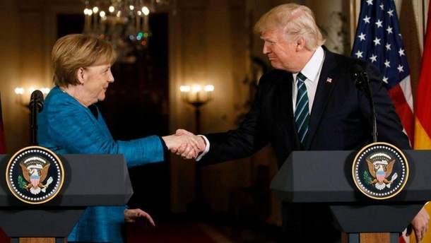 Меркель обсудила с Трампом вопрос Украины