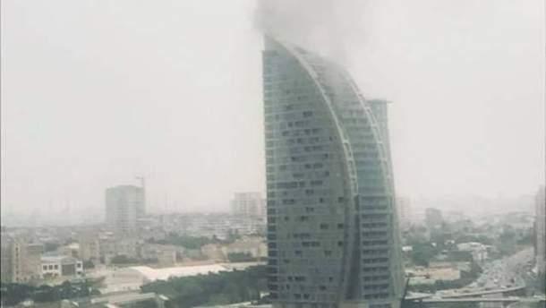 В Баку горит Trump Tower