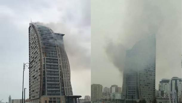 Пожежа у Trump Tower у Баку 28 квітня