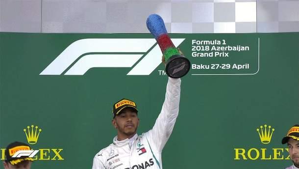 Формула 1: Хэмилтон в драматичной борьбе одержал первую победу в сезоне в Азербайджане