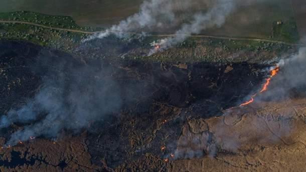 Вблизи Херсона подожгли сухой камыш