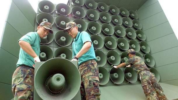 Южная Корея демонтирует громкоговорители с пропагандой на границе с КНДР