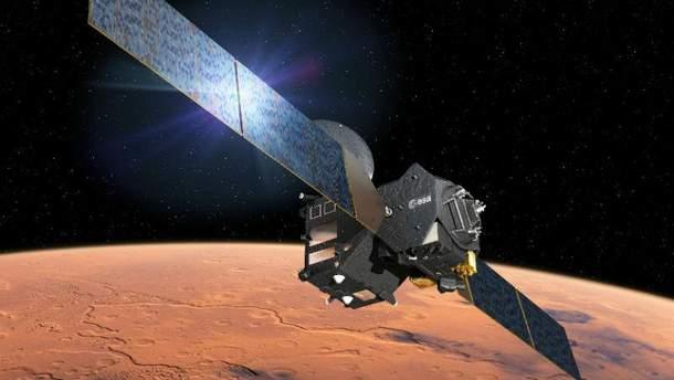 Уникальный снимок Марса с орбиты