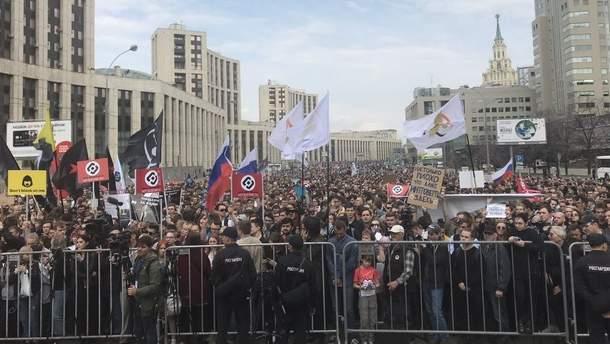 В Москве проходит масштабный митинг против блокировки Telegram