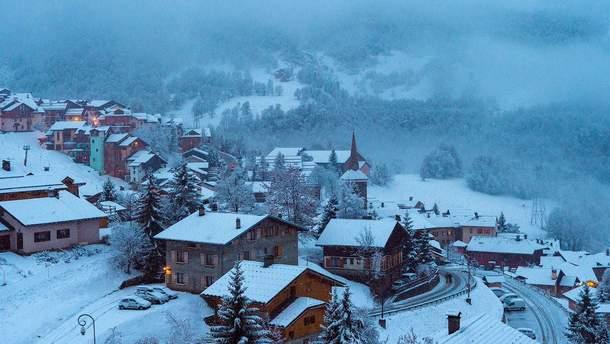 У Нормандії випав сніг
