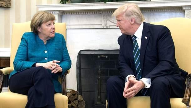 Встреча Трампа с Меркель