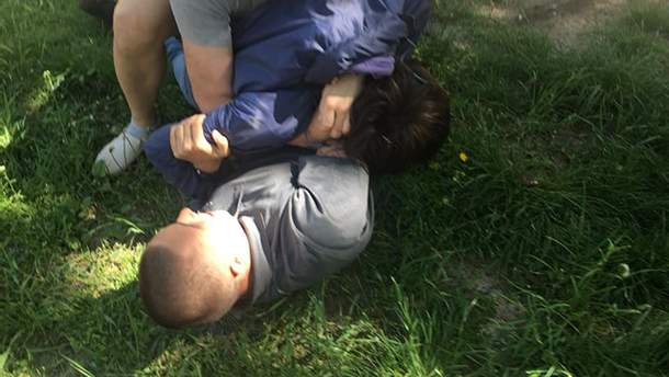 Задержание нападавшего на Стерненко