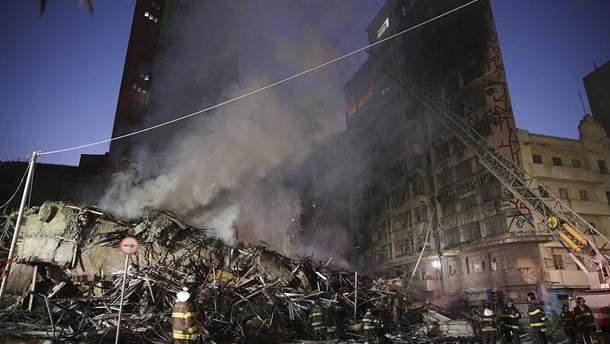 Из горящего здания в Сан-Паулу спасено около 250 человек