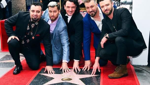 Группа NSYNC получила именную звезду