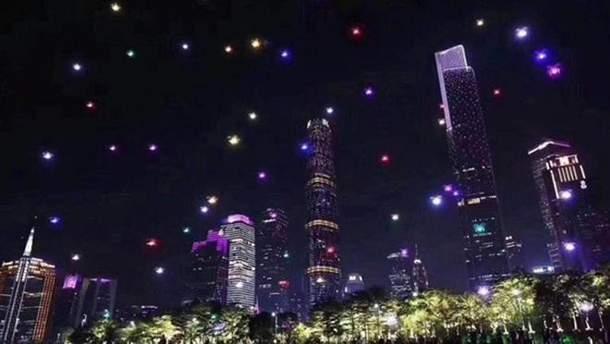 1374 дрона осветили небо над городом Сиань