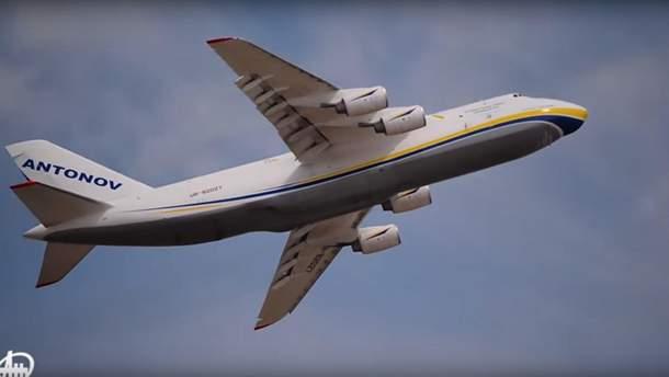 Ан124-100 здійснив показовий політ на авіасалоні в Туреччині
