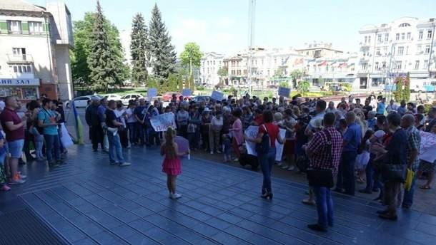 Переселенцы вышли на митинг в Виннице