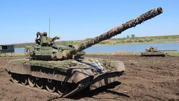 Тренировка украинских танкистов на Донбассе