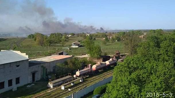 Пожар в Балаклее 3 мая 2018