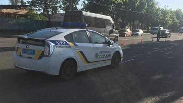 В Кривом Роге патрульный наехал на пешехода