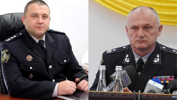 Глава полиции Николаевщины Анохин (слева) и глава полиции Запорожской области Комиссаров (справа)