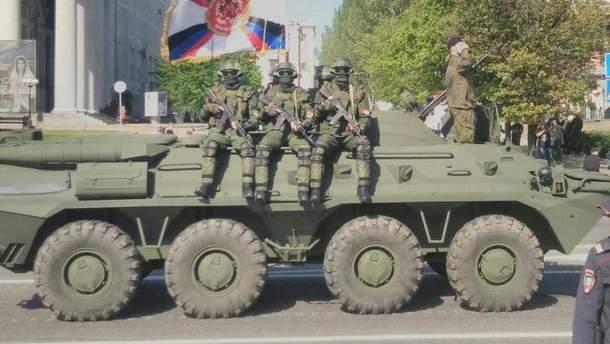 Опубліковані фото підготовки бойовиками параду до 9 травня в Донецьку (4)