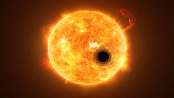 """""""Хаббл"""" виявив гелій в атмосфері екзопланети"""