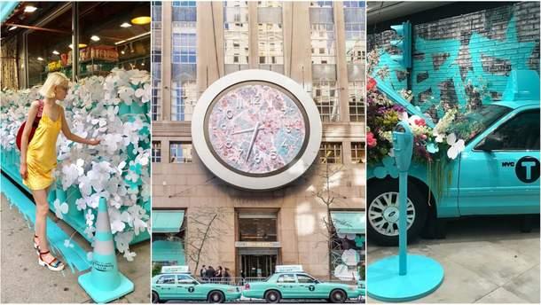 Tiffany & Co украсили Нью-Йорк бирюзовым цветом