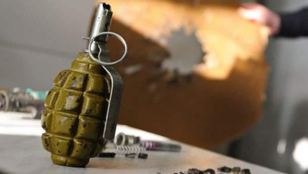 Взрыв гранаты в Киеве