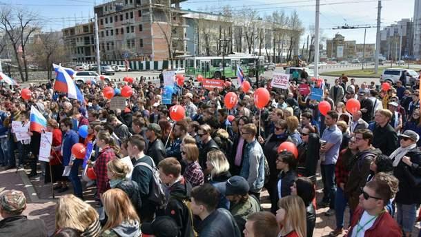 У Росії тривають акції протесту проти інавгурації Путіна
