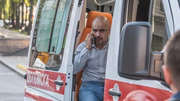 Избиение Мустафа Найем в Киеве