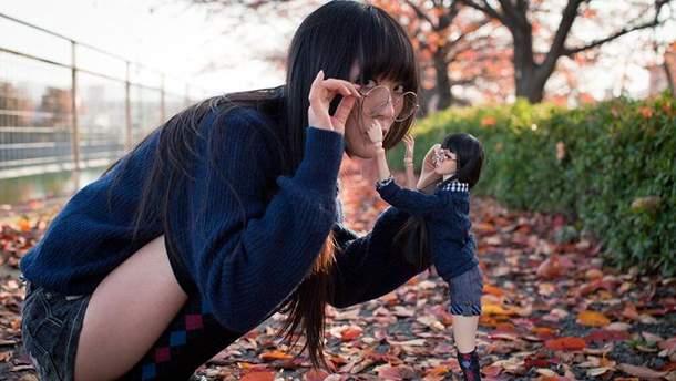 Японка создала свою мини-копию
