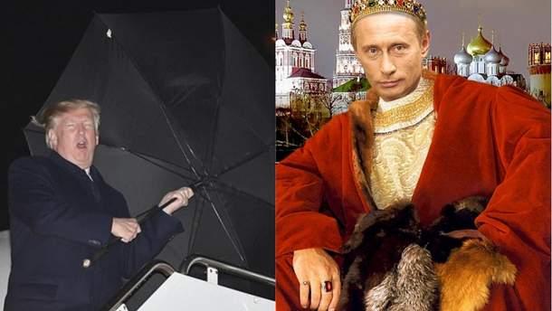 Самые смешные мемы недели: с кем боролся Трамп, Путин короновал самого себя