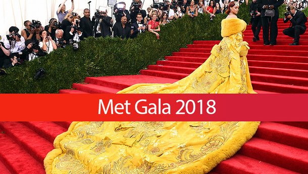 Певица Рианна на Met Gala 2015