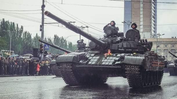 Парад в Донецке