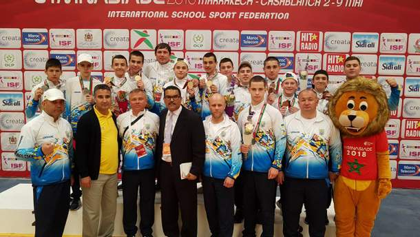 Сборная Украины по боксу среди школьников