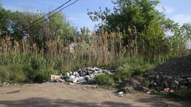 У центрі Керчі живописний пляж перетворився на сміттєзвалище