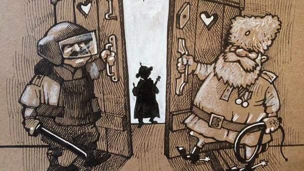 Карикатури на інавгурацію Путіна